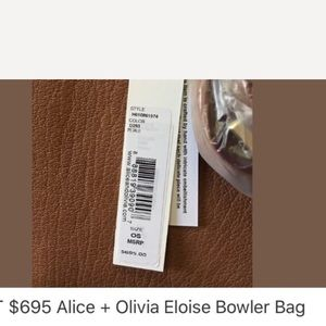 Alice + Olivia Bags - New without tag Eloise bowler bag Alice and Olivia